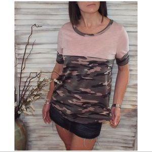 Tops - ⭐️Camouflage Floaty Super Soft Tunic Pink 0519